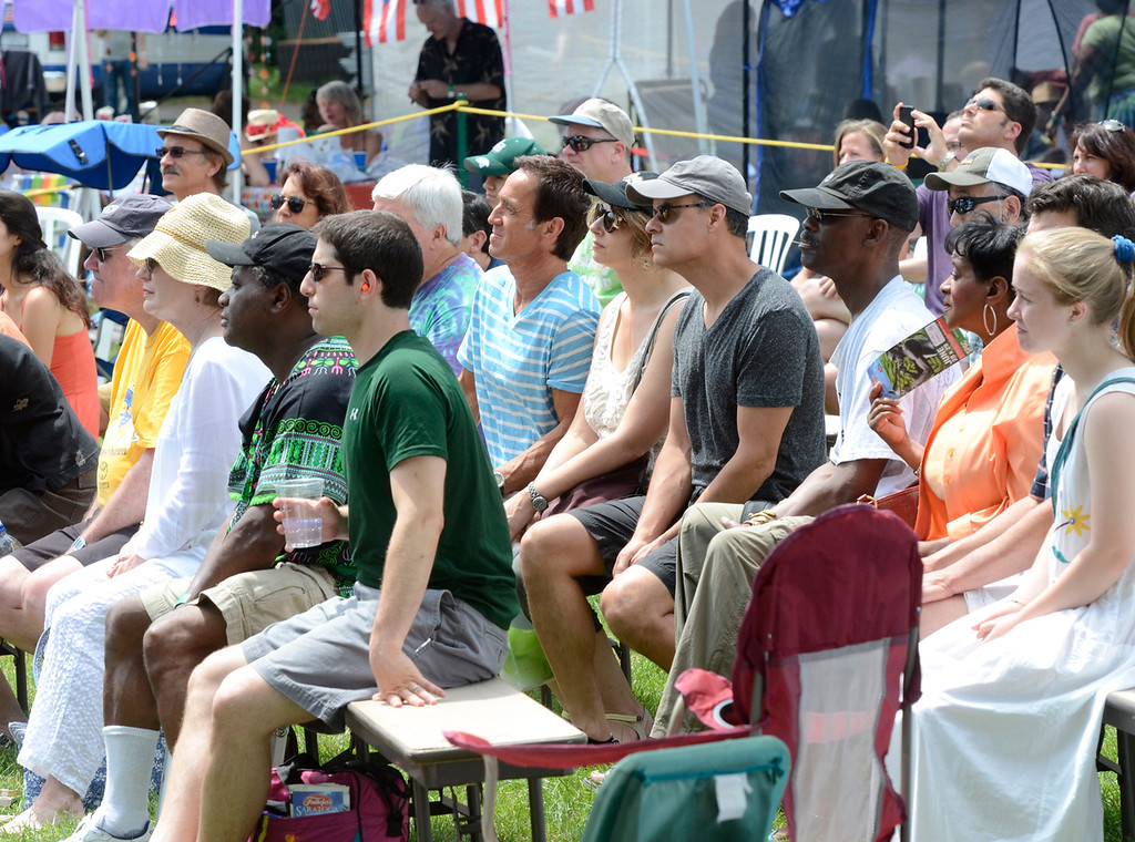 Description of . Ed Burke - The Saratogian 06/28/14 Jazz fans relax Saturday during Freihofer's Saratoga Jazz Festival at SPAC.
