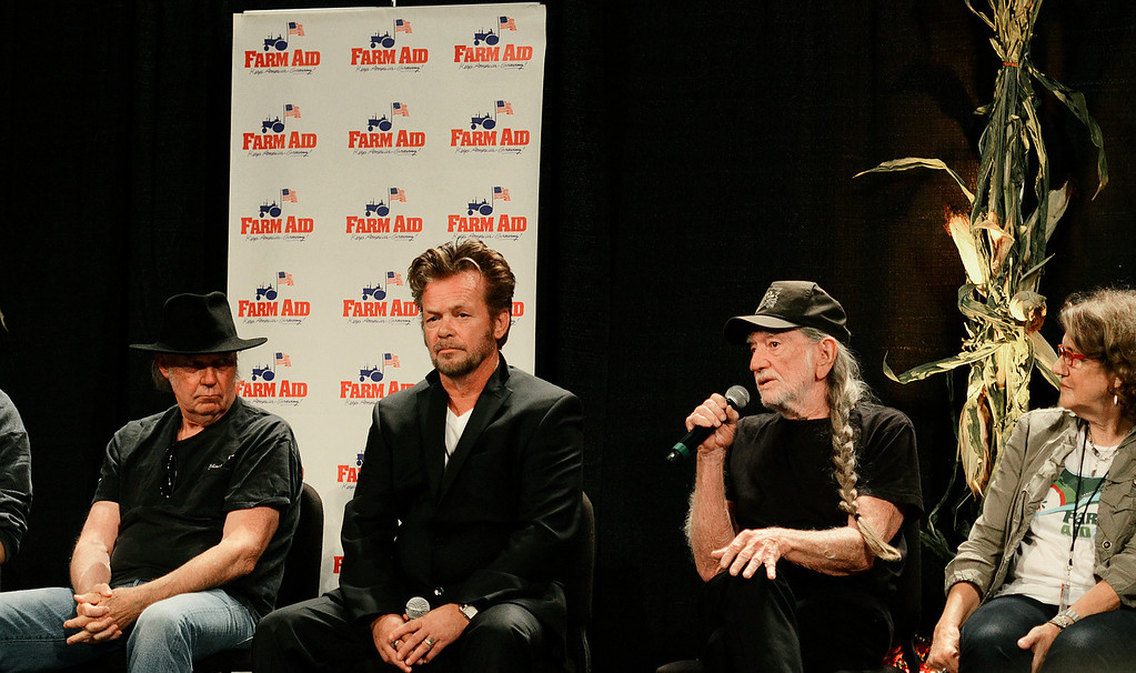 Description of . Erica Miller - The SaratogianWillie Nelson discusses issues at a panel press conference to kick off the Farm Aid 2013 in Saratoga Springs on Sept. 21, 2013 at Saratoga Performing Arts Center.SAR-l-PressConf5