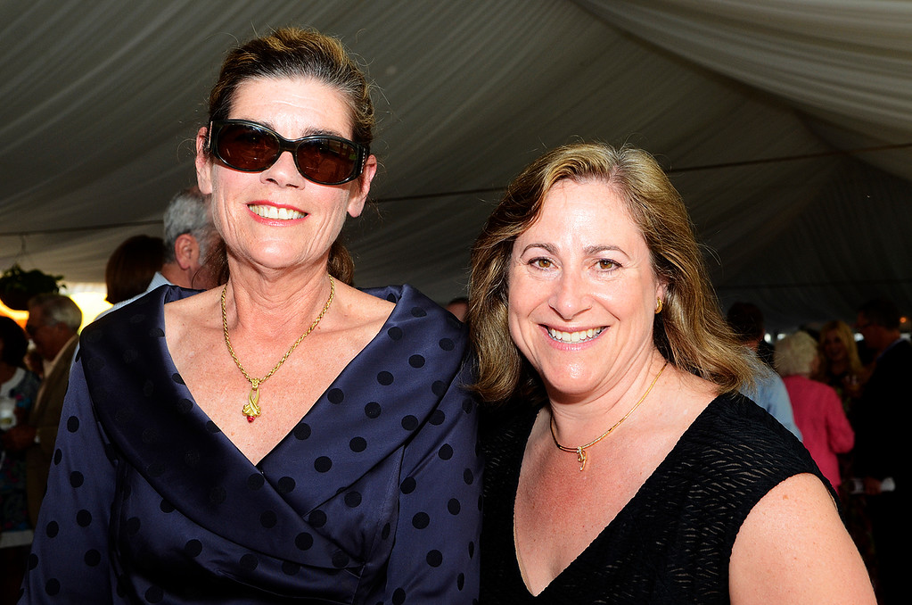 Description of . Erica Miller @togianphotog - The Saratogian:     Tuesday evening at the Saratoga Polo Field grounds Skidmore held the Palamountain Scholarship Benefit Dinner. In attendance were (l-r) Sarah Loughran and Karen Schick.