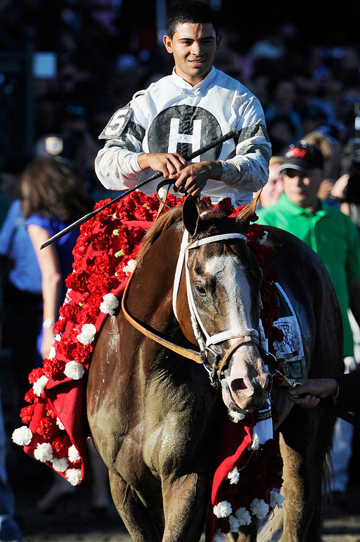 Description of . Will Take Charge trained by D. Wayne Lucas ridden by Luis Saez won the million dollar Travers Stakes this Saturday afternoon at the Saratoga Race Course.Photo Erica Miller/The Saratogian 8/24/13 TraversEM6