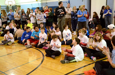 Ed Burke - The Saratogian 01/18/14 Welcoming the Navy, participating athletes applaud Saturday at Okte Elementary School in Clifton Park. Sports Are For Everyone (SAFE) officially partnered with the Navy during a ceremony at the school. SAFE was founded in 1992 by Jim Fitzgerald to ensure those with special needs were able to participate in sports and build friendships and self-confidence.