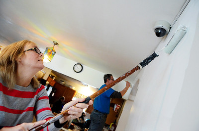 Erica Miller @togianphotog	- The Saratogian,   Chris MacCormick, of Saratoga Springs, helped paint the walls at Shelters of Saratoga. Monday Jan. 20th, 2014, in celebration of Martin Luther Kings Day, the community gathered to help local non-for-profits in the city.