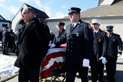 Erica Miller @togianphotog- The Saratogian, The funeral of a dedicated fireman, Louis Pasquarell Sr. of Jonesville Fire Department was laid to rest on Friday, Jan. 24th, 2014. He served 77 years as a fireman. The funeral was held at the Corpus Christi Church, Ushers 2001 Route 9, Round Lake.