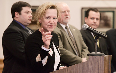 """Erica Miller @togianphotog - The Saratogian:   At the Saratoga County Board of Supervisors daughter Melody Brown thanked the Veterans committee during the honoring ceremony for their father Joseph Kalinkewicz at the Saratoga County """"Honoring Our Deceased Veterans"""" Ceremony held monthly."""
