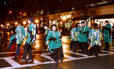 Ed Burke - The Saratogian 12/5/13 The Pokingbrook Morris Dancers perform old English traditional dancing during Thursday's Victorian Streetwalk in downtown Saratoga Springs.