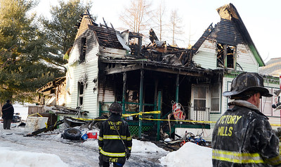 Erica Miller @togianphotog - The Saratogian.    On Tuesday morning on the 7th, 2013, a fire broke out at 15 Pearl Street in Victory Mills, just outside Schuylerville. Multiple agencies were called on scene including, Victory, Greenfield/Wilton, Schuyler Hose, Greenwich and Quaker Springs fire companies. The aftermath where the blaze was knocked out a little after 3 p.m.   SAR-l-VictoryFire14