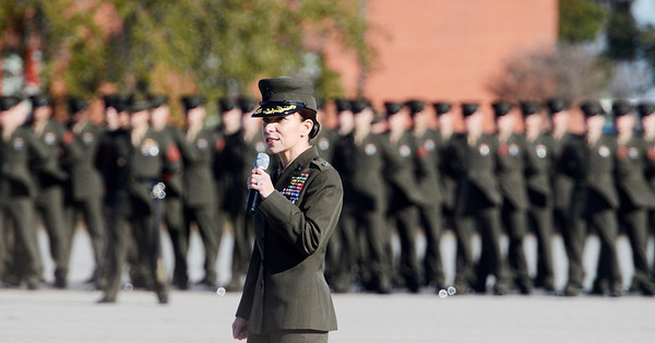 Erica Miller @togianphotog - The Saratogian:     In Parris Island at the Recruit Training Regiment Marine Corps Recruit Depot, on graduation day on Friday  February 14th, 2014.