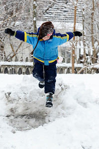 Erica Miller @togianphotog - The Saratogian:  After a evening of snow fall the students at the Waldorf School on Lake Ave enjoyed playing in the snow. Caleb Blachler took a leap off the snowhill bundled up with snow gear.