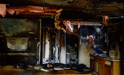 Erica Miller @togianphotog - The Saratogian     A fire broke out on Wednesday late afternoon  at 335 Grand Ave in Saratoga Springs. The fire started in the bedroom, at the far end of the house, according to Saratoga Springs Fire Department Assistant Chief Pete Shaw. The fire was accidental, started when a lamp was tipped over. One lady was the resident of the home Shaw mentioned. She was treated by the EMS but was not sent to the Saratoga Hospital. No animals were in the home, but the condition of the home was too poor to reside in. The Windows were boarded up on Thursday afternoon.SAR-l-GrandAveFire14