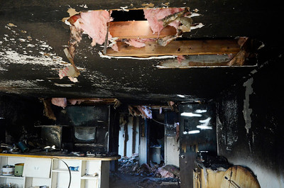 Erica Miller @togianphotog - The Saratogian     A fire broke out on Wednesday late afternoon  at 335 Grand Ave in Saratoga Springs. The fire started in the bedroom, at the far end of the house, according to Saratoga Springs Fire Department Assistant Chief Pete Shaw. The fire was accidental, started when a lamp was tipped over. One lady was the resident of the home Shaw mentioned. She was treated by the EMS but was not sent to the Saratoga Hospital. No animals were in the home, but the condition of the home was too poor to reside in. The Windows were boarded up on Thursday afternoon.SAR-l-GrandAveFire3