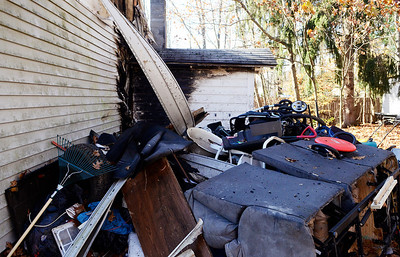 Erica Miller @togianphotog - The Saratogian     A fire broke out on Wednesday late afternoon  at 335 Grand Ave in Saratoga Springs. The fire started in the bedroom, at the far end of the house, according to Saratoga Springs Fire Department Assistant Chief Pete Shaw. The fire was accidental, started when a lamp was tipped over. One lady was the resident of the home Shaw mentioned. She was treated by the EMS but was not sent to the Saratoga Hospital. No animals were in the home, but the condition of the home was too poor to reside in. The Windows were boarded up on Thursday afternoon.SAR-l-GrandAveFire7