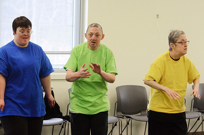 """Erica Miller @togianphotog - The Saratogian:  At Saratoga Bridges in Ballston Spa, on March 20th, 2014, under the direction of Judi Fiore, dance instructor, the group """"traveled the world"""" learning different dances from different countries."""