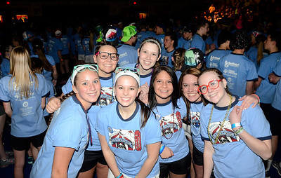 Ed Burke - The Saratogian 03/07/14 South Glens Falls High School students kick off their 24 hour Marathon Dance Friday night. Funds raised from the event, which began in 1977, will be distributed between 39 needy individuals, families and organizations.