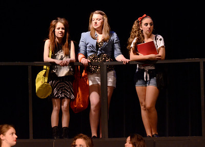 Ed Burke - The Saratogian 03/26/14 Members of the Ballston Spa High School Troupe rehearse their musical Footloose to be performed at the high school March 28 & 29 and April 4 & 5 at 7:30 pm. Also there is a matinee this Saturday March 29 at 1:30 pm.