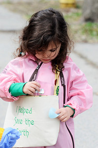 """Erica Miller @togianphotog - The Saratogian: students from  Pre-K In The Park in Saratoga Springs  hit the streets on Friday, April 25th  to clean up the sidewalks in Franklin square. This was the school's first year hosting a """"Clean Up Saratoga"""" program as 16 children from ages 3-5 celebrated Earth Day."""