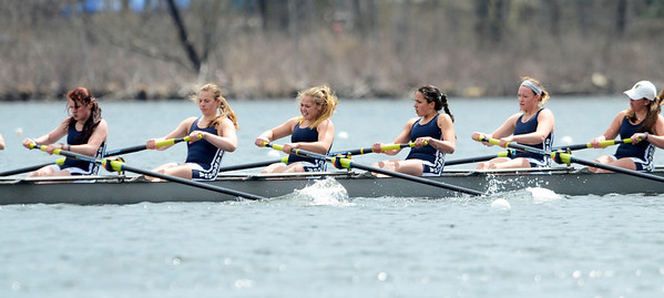 Erica Miller @togianphotog - The Saratogian:    On Saturday April 26th, 2014, on Saratoga Lake, Saratoga Rowing Association held the Saratoga Invitational as Saratoga made it through on the 39th race Women's 2nd Varisty 8+.