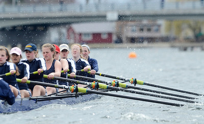 Erica Miller @togianphotog - The Saratogian:    On Sunday April 27th, 2014, on Saratoga Lake, Saratoga Rowing Association held the Saratoga Invitational as Saratoga's made it through on the Race 78a in the Women's 3v-4v-5v Eight.