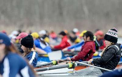 Erica Miller @togianphotog - The Saratogian:    On Sunday April 27th, 2014, on Saratoga Lake, Saratoga Rowing Association held the Saratoga Invitational as start of Race 72b in the Women's 2v Eight.