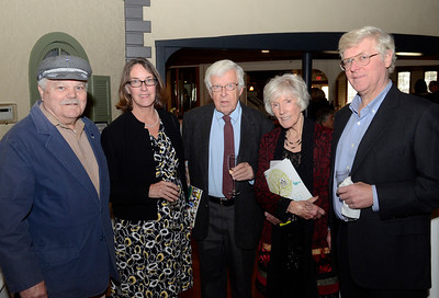 Ed Burke - The Saratogian 04/03/14 Among those attending the Shelters of Saratoga gala Thursday at Longfellows were, from left: Mark Lawton, Mary Perez, Charles Morrison, Laura Chodos and Bill Perez. Laura Chodos was the Honorary Committee Chair for the event.