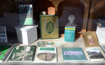 Ed Burke - The Saratogian 03/13/14 The window at Lyrical Ballad Bookstore features a Celtic theme this month.
