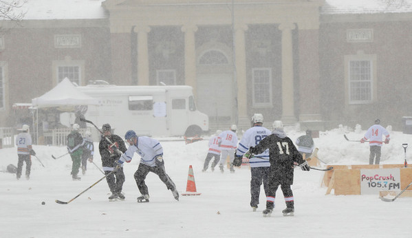 Ed Burke - The Saratogian 01/25/14 Teams face off Saturday during the Saratoga Frozen Springs Classic Hockey Tournament at Saratoga Spa State Park.