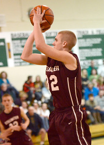 Ed Burke - The Saratogian 01/21/14 Stillwater's Jake Hill sinks two for the Warriors during Tuesday's matchup at Greenwich.