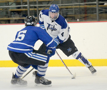 Ed Burke - The Saratogian 01/22/14 Saratoga's Jack Rittenhouse is challenged by La Salle's Mike DiBernardo during Wednesday's game in Saratoga.