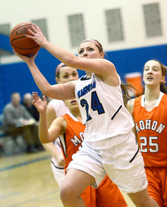Ed Burke - The Saratogian 01/23/14 Saratoga's Kierra Bertrand takes a shot during Thursday's game versus Mohonasen at Saratoga.