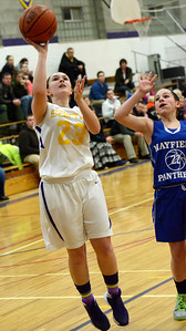 Ed Burke - The Saratogian 01/30/14 Saratoga Central Catholic's Kaylie Fish takes a shot during Thursday's game versus Mayfield in Saratoga.