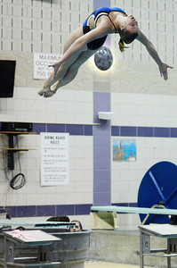 Erica Miller @togianphotog - The Saratogian    	The Ballston Spa Swimming and Diving team had 5 girls that will be competing in the State Finals in Ithaca this weekend. Senior Addison Walkowiak worked on her dives in the pool on Thursday 11/20/13.   SAR-l-BspaSwim5