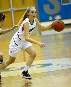 Ed Burke - The Saratogian 12/13/13 Saratoga's Lindsay Rutz moves the ball against Shen during Friday's game at Saratoga.
