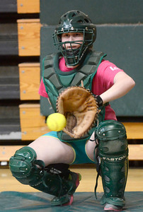 Ed Burke - The Saratogian 04/02/14 Greenwich's Leah Foster practices with the team Wednesday in the school's gym.