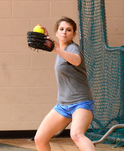 Ed Burke - The Saratogian 04/02/14 Greenwich's Alexis Case practices with the team Wednesday in the school's gym.