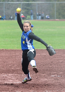 Ed Burke - The Saratogian 04/26/14 Galway's Taylor Fedor pitches to Corinth during Saturday's Corinth Classic Softball Tournament.