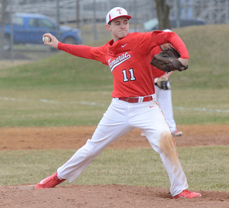 Ed Burke - The Saratogian 04/11/13 Tamarac pitcher Dillon Maxon throws during Friday's game at Schuylerville.