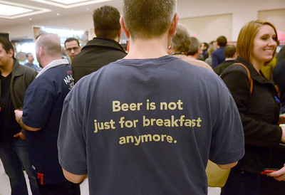 Ed Burke - The Saratogian02/22/14 Buffet of craft beers were on the menu during Saturday's Saratoga Beer Summit at the city center.