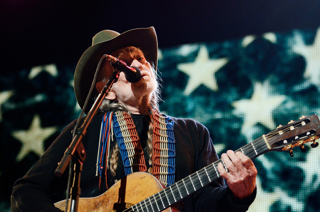 . Erica Miller - The Saratogian Famous Willie Nelson performed at the Farm Aid 2013 in Saratoga Springs on Sept. 21, 2013 at Saratoga Performing Arts Center.SAR-l-WillieNelson17
