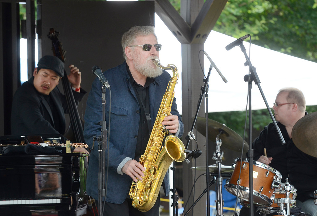 . Ed Burke - The Saratogian 06/28/14 The Lew Tabackin trio performs at the gazebo Saturday during the Freihofer Saratoga Jazz Festival at SPAC.