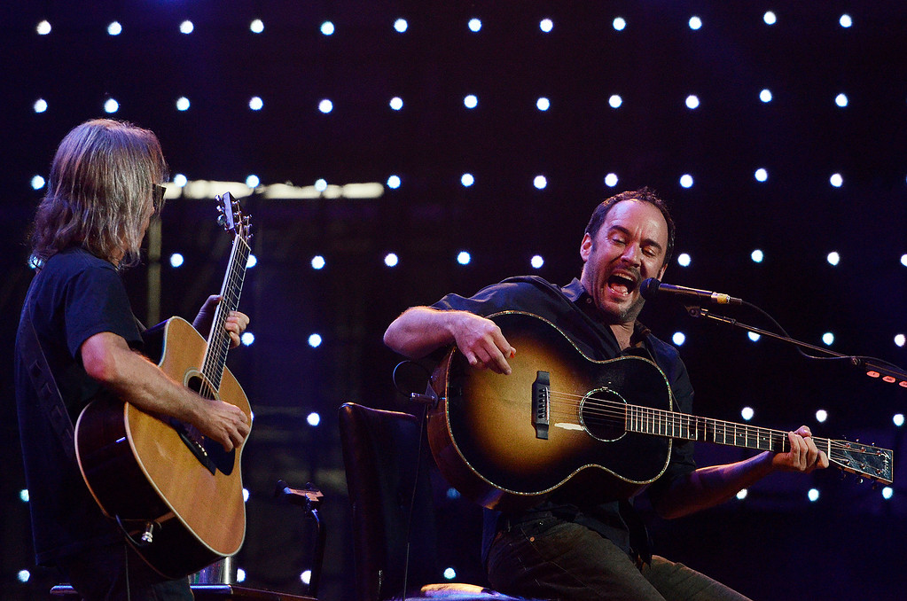 . Erica Miller - The Saratogian Dave Matthews and Tim Renoylds performed at the Farm Aid 2013 in Saratoga Springs on Sept. 21, 2013 at Saratoga Performing Arts Center.SAR-l-DaveMatthews1