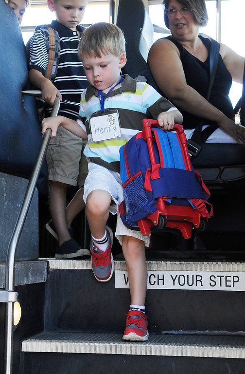 . Ballard Road Elementary School held their first day of classes for South Glens Falls School District Wednesday morning. Saratoga Springs also had their first day of classes.Photo Erica Miller/The Saratogian 9/4/13 news_FirstDay4_Thurs