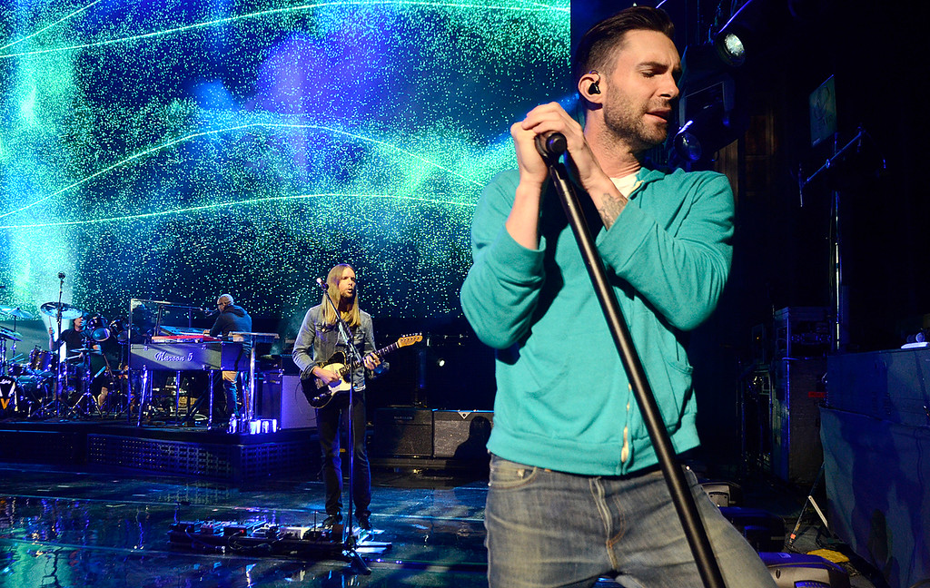 . Adam Levine and Maroon 5 takes the stage Thursday at SPAC. Photo Ed Burke/SARATOGIAN 9/5/13