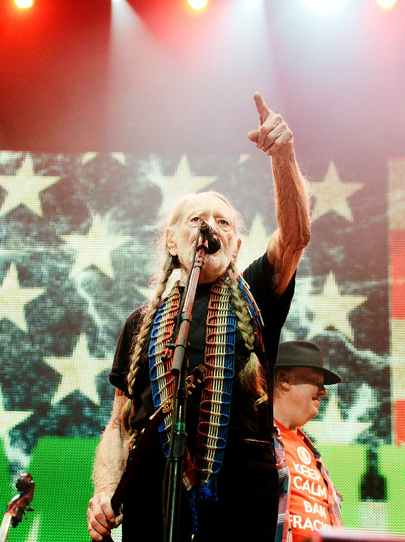 . Erica Miller - The Saratogian  Famous Willie Nelson performed at the Farm Aid 2013 in Saratoga Springs on Sept. 21, 2013 at Saratoga Performing Arts Center.SAR-l-WillieNelson1