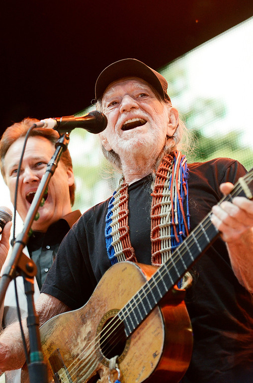 . Erica Miller - The Saratogian Willie Nelson performed with The Blackwood Quartet to kick off the Farm Aid 2013 in Saratoga Springs on Sept. 21, 2013 at Saratoga Performing Arts Center.SAR-l-WillieKickOFF3