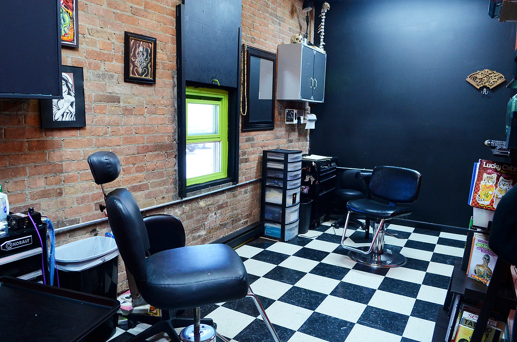 . Erica Miller - The Saratogian  Needlewurks has moved their location to West Circular into the front space of the warehouse, near Price Chopper. The new location made for a much needed upgrade of space for all their tattoo artist and piercing personnel.SAR-l-NeedleWurks4