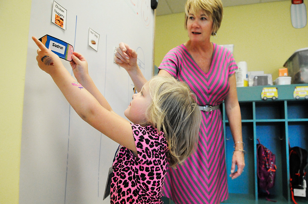 . Ballard Road Elementary School held their first day of classes for South Glens Falls School District Wednesday morning. Saratoga Springs also had their first day of classes.Photo Erica Miller/The Saratogian 9/4/13 news_FirstDay10_Thurs