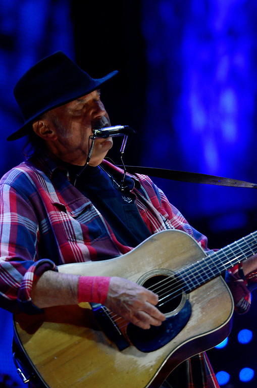 . Erica Miller - The Saratogian Neil Young performed at the Farm Aid 2013 in Saratoga Springs on Sept. 21, 2013 at Saratoga Performing Arts Center.SAR-l-NeilYoung2