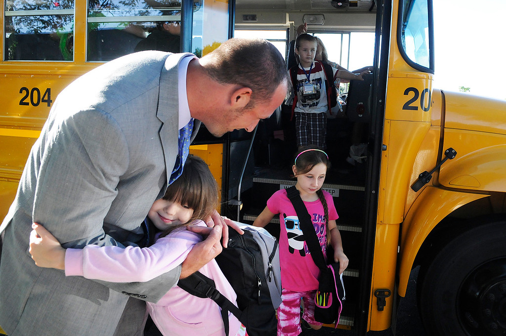 . Ballard Road Elementary School held their first day of classes for South Glens Falls School District Wednesday morning. Saratoga Springs also had their first day of classes.Photo Erica Miller/The Saratogian 9/4/13 news_FirstDay2_Thurs
