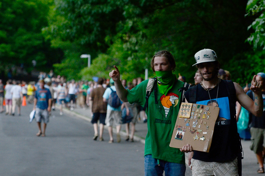 . Erica Miller @togianphotog - The Saratogian:    On Thursday July 3rd 2014, Saratoga Springs was packed with thousands of Phish fans for their first of three concert nights at SPAC. Patrons made their way over the bridge towards the SPAC entrance.