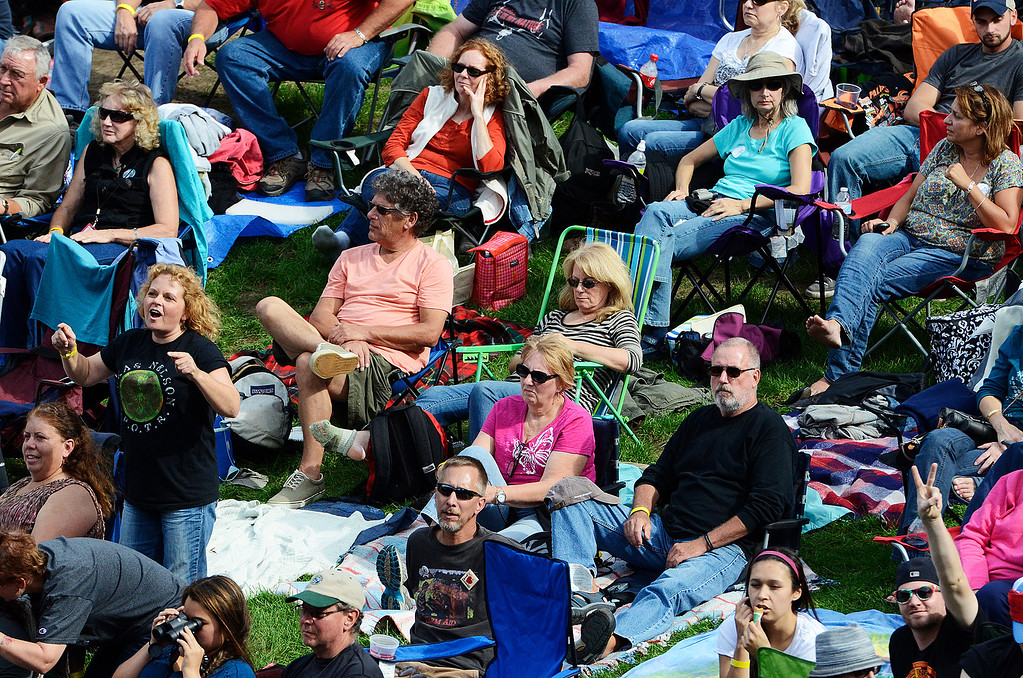 . Erica Miller - The Saratogian Huge crowds fill the lawns for the Farm Aid 2013 in Saratoga Springs on Sept. 21, 2013 at Saratoga Performing Arts Center.SAR-l-CrowdStuff6