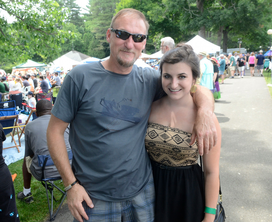 . Ed Burke - The Saratogian 06/28/14 Don LeBarron and his daughter Emily of Ballston Spa attend Freihofer\'s Saratoga Jazz Festival at SPAC.